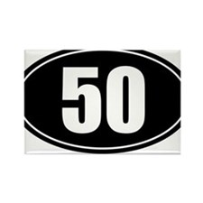 50 mile black oval sticker decal Rectangle Magnet