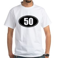 50 mile black oval sticker decal Shirt