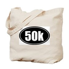 50k 31.1 black oval sticker decal Tote Bag