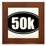 50k 31.1 black oval sticker decal Framed Tile