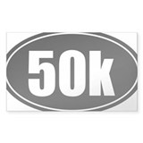 50k 31.1 black oval sticker decal Bumper Stickers