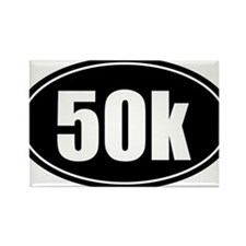50k 31.1 black oval sticker decal Rectangle Magnet