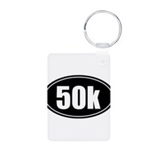 50k 31.1 black oval sticker decal Keychains