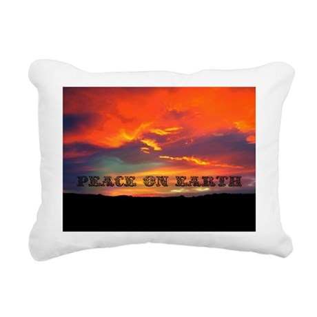 Peace on Earth Rectangular Canvas Pillow