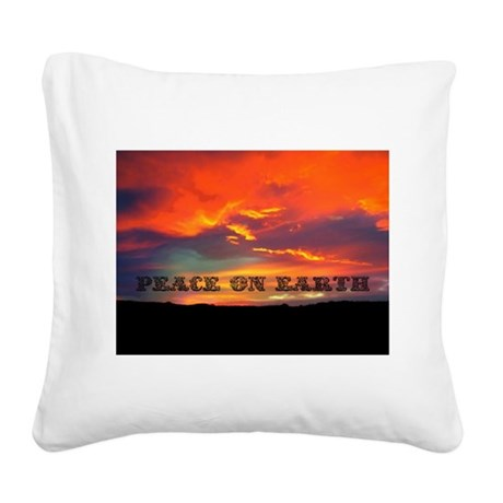 Peace on Earth Square Canvas Pillow