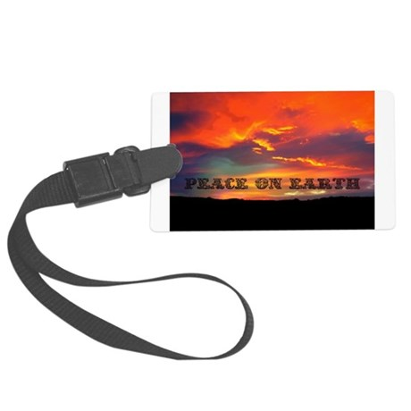Peace on Earth Large Luggage Tag