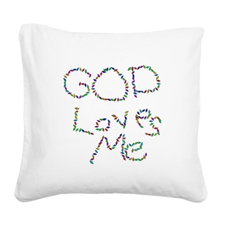 godloves.png Square Canvas Pillow