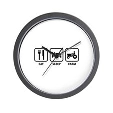 Eat Sleep Farm Wall Clock