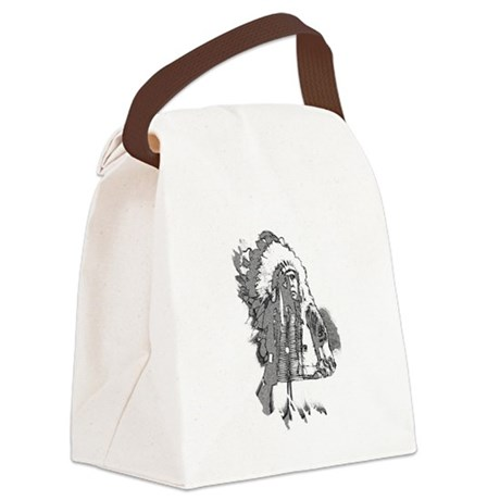 indian1f2.png Canvas Lunch Bag