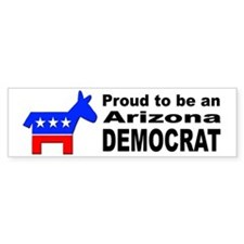 Arizona Democrat Pride Bumper Sticker