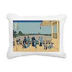 Hokusai Sazai Hall Rectangular Canvas Pillow