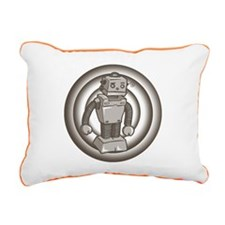 Retro Robot Rectangular Canvas Pillow