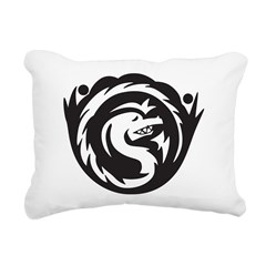 Serpent Tattoo Rectangular Canvas Pillow