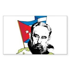 Fidel Castro Rectangle Decal