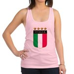 Italian 4 star FLAG(white).png Racerback Tank Top