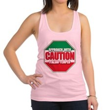 caution.png Racerback Tank Top