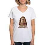 Trust Government Sitting Bull Women's V-Neck T-Shi