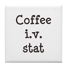 Coffee IV Stat Tile Coaster