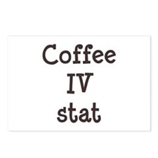 Coffee IV Stat Postcards (Package of 8)
