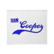 Team Cooper Throw Blanket