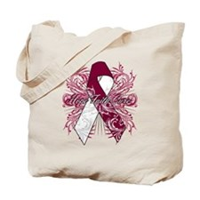 Throat Cancer Flourish Tote Bag