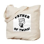 Father of Twins Tote Bag