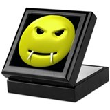 Vampire Smiley Face Keepsake Box