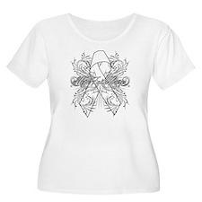 Lung Cancer Flourish T-Shirt
