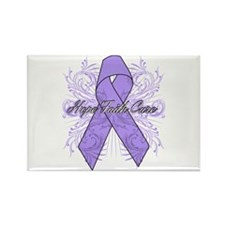 General Cancer Flourish Rectangle Magnet