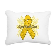 Childhood Cancer Flourish Rectangular Canvas Pillo
