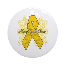Childhood Cancer Flourish Ornament (Round)