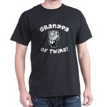 Grandpa of Twins Black T-Shirt