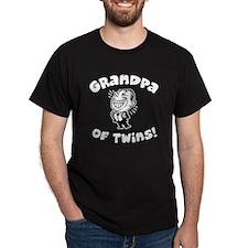 Grandpa of Twins Black T-Shirt