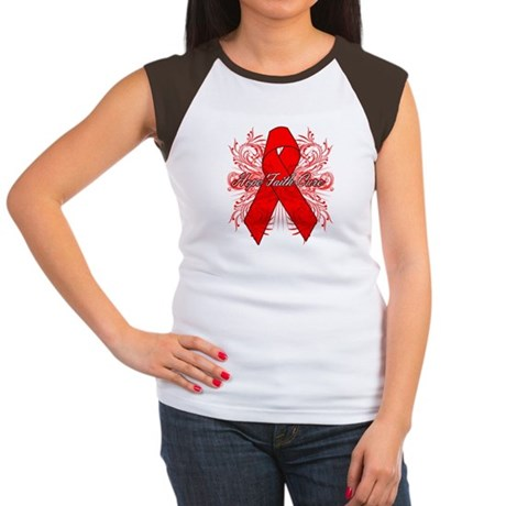 Blood Cancer Flourish Women's Cap Sleeve T-Shirt