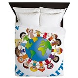 One people One planet Baha'i Queen Duvet