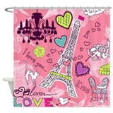 Love in Paris Shower Curtain