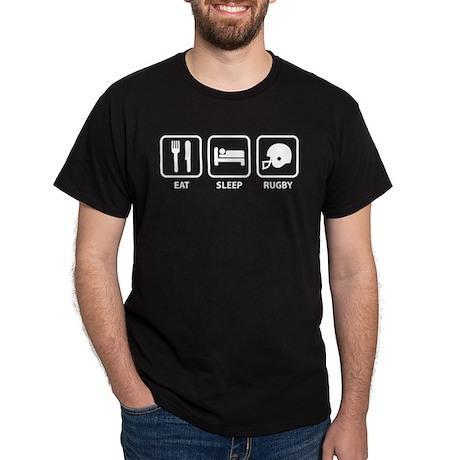 Eat Sleep Rugby Dark T-Shirt