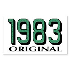 1983 Original Rectangle Decal