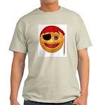 Pirate Smiley Face Ash Grey T-Shirt