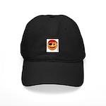 Pirate Smiley Face Black Cap