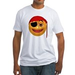 Pirate Smiley Face Fitted T-Shirt