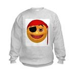 Pirate Smiley Face Kids Sweatshirt