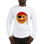 Pirate Smiley Face Long Sleeve T-Shirt