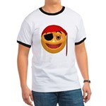 Pirate Smiley Face Ringer T