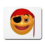 Pirate Smiley Face Mousepad