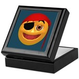 Pirate Smiley Face Keepsake Box