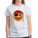 Pirate Smiley Face Women's T-Shirt