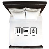 Eat Sleep Tag King Duvet