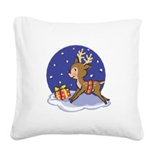 baby reindeer copy.jpg Square Canvas Pillow