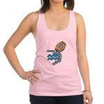 aquarius water symbol.jpg Racerback Tank Top